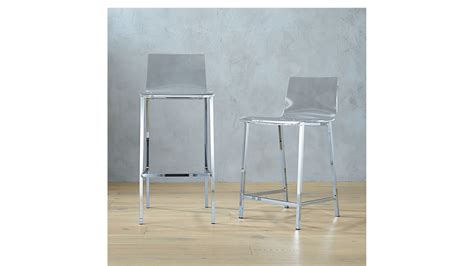 Vapor Acrylic Bar Stools by Vapor 30 Quot Acrylic Bar Stool Cb2