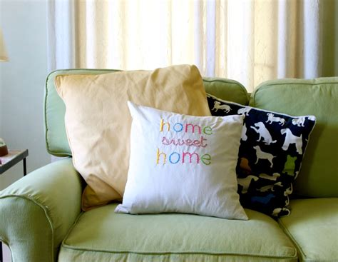 sweet home best pillow diy embroidered home sweet home throw pillow