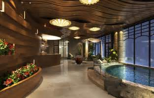 resort home design interior lobby interior design of spa resort hotel