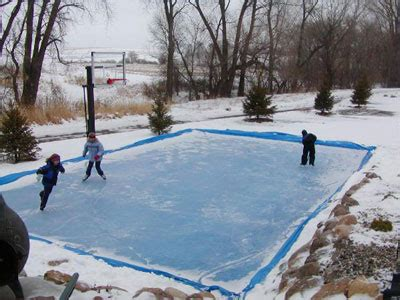 how to make a backyard ice rink backyard ice rink sport court north serving mn western wi