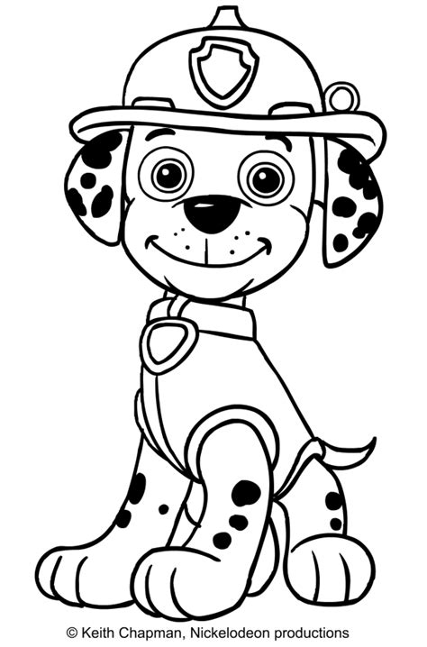free coloring pages of paw patrol marshall paw patrol marshall coloring coloring pages