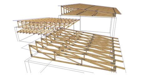 Attic Floor Plans by Complex 12 Timber Trusses Truss Frame Construction