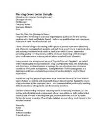 nursing cover letters sles 17 best ideas about nursing cover letter on