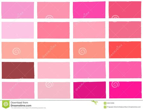 Color Scheme Wheel pink tone color shade background stock vector image