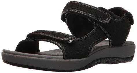 clarks walking sandals clarks brizo womens hook and loop walking sport sandals