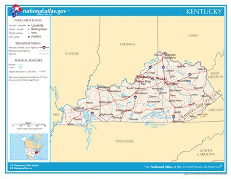 kentucky map detailed large detailed map of kentucky state kentucky state large