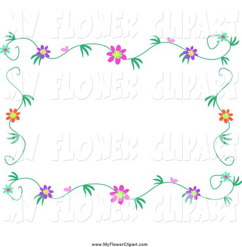 May Borders Clipart by Flower Vine Border Clipart 58