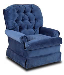 Cloth Recliners On Sale Blue Fabric Comfortable Traditional Swivel Rocker Recliner