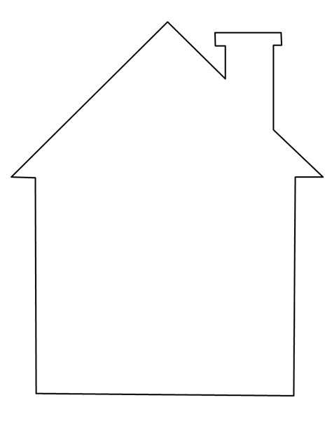 template of house house coloring page could be used as a template for applique color preschool activities