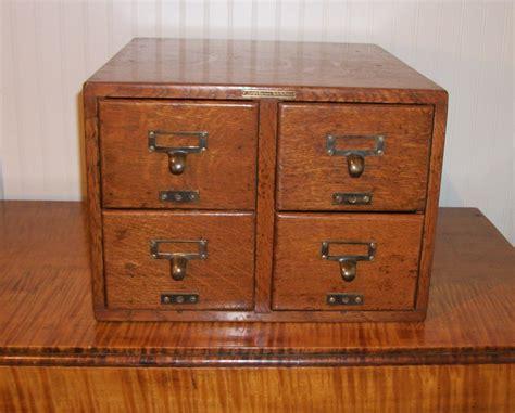 antique oak library bureau sole makers card catalog by