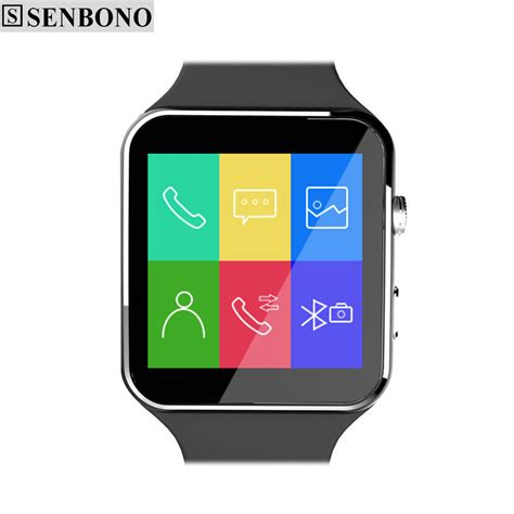 Senbono Smartwatch Sporty Elegan G6 senbono bluetooth smart x6 smartwatch sport for android phone with support