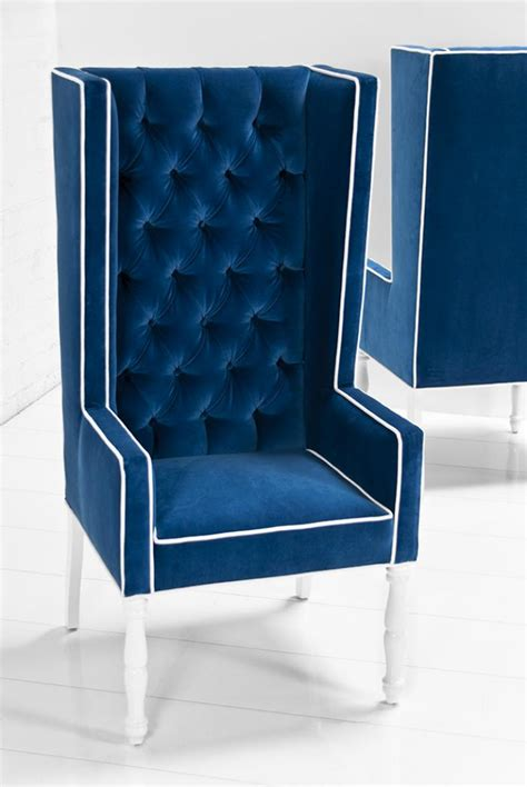 Royal Blue Dining Chairs Www Roomservicestore Ultra Mod Wing Dining Chair In Royal Blue Velvet