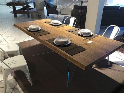 spadacini mobili tavolo rovere massello corteccia 220 x 100 sp 5 5