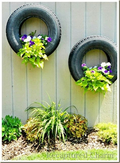 Tire Flower Planters by Tire Flower Pots Gardens