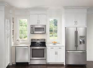 stainless steel kitchen appliances white kitchen cabinets stainless appliances quicua