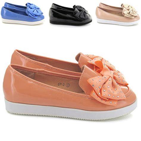 Yellow Ribbon Flat Shoes 37 new womens creeper loafers flat pumps casual brogue