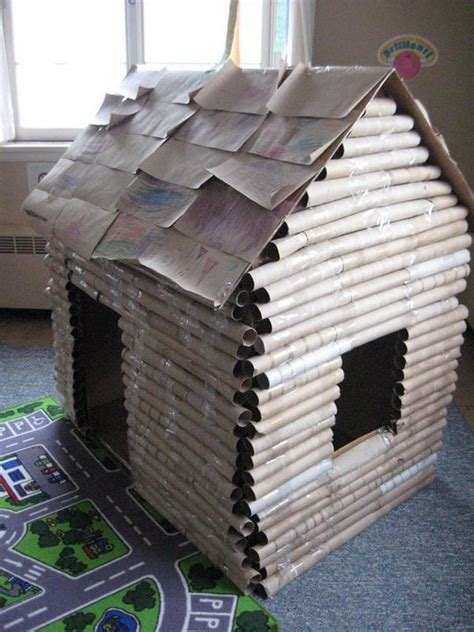 How To Make A Paper Fort - 30 creative diy cardboard playhouse ideas hative
