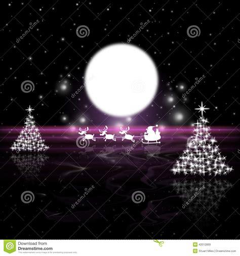 weihnachtsbaum bedeutung weihnachtsbaum bedeutet vollmond und mond stock abbildung