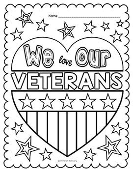 coloring page of veterans day free veteran s day coloring pages pinteres