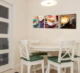 modern coffee theme art print kitchen decor 3 piece set