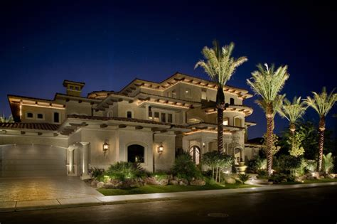 Houzz Wall Sconces Exterior Elevation With Cove Lights Mediterranean