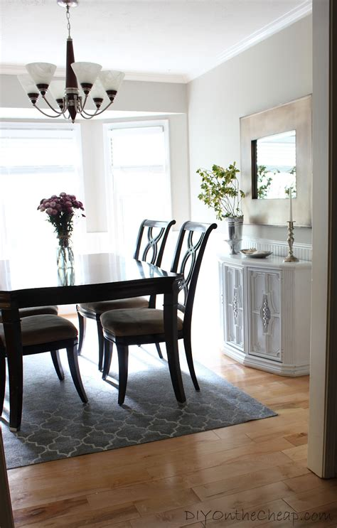 Cheap Dining Room Rugs by How To Stencil A Rug On The Cheap Erin Spain