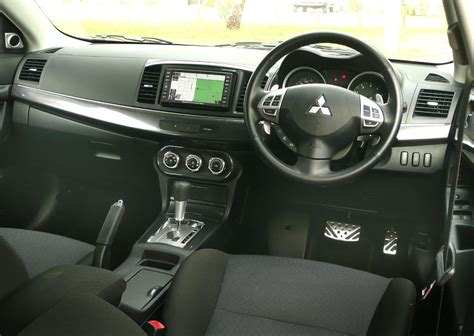 mitsubishi lancer sportback interior mitsubishi lancer sportback review road test caradvice