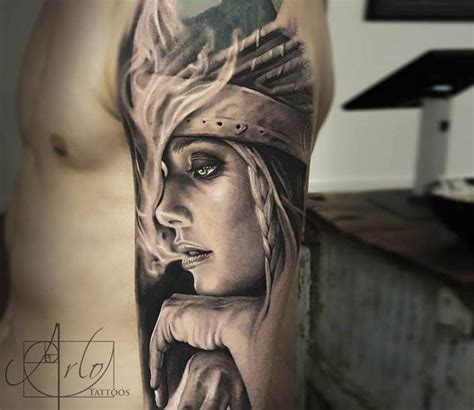 squaw tattoo by arlo tattoos detail photo no 15957
