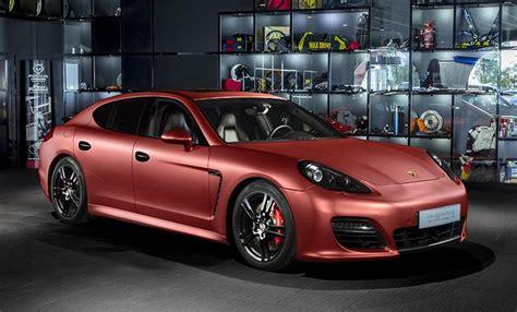 Porsche Panamera Red by Overdrive Porsche Panamera Turbo Red Aluminum