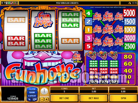 house of fun slot machines multi line slots funhouse