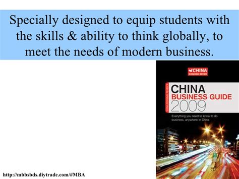 1 Year Mba In China by Mba In China