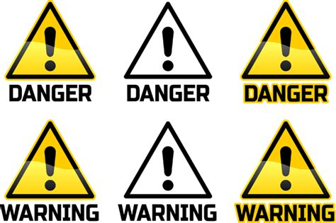12 Warning Signs Your Is In Danger by Caution Sign Clipart 46