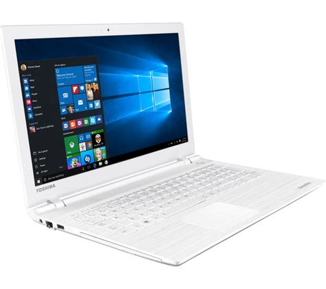 buy toshiba satellite c55 c 183 15 6 quot laptop white free delivery currys
