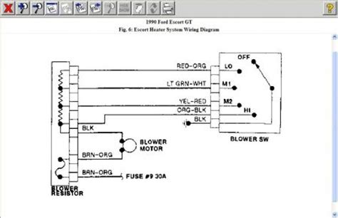 ford blower motor resistor diagram 1990 ford blower motor 1990 ford 4 cyl front wheel