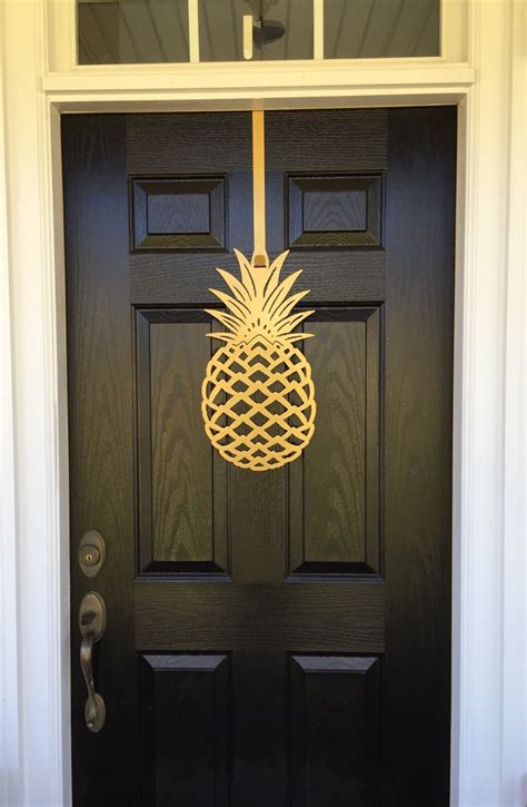 Pineapple Front Door Pineapple Front Door Wreath 2 Sizes To Chose From With 100 Color Choices