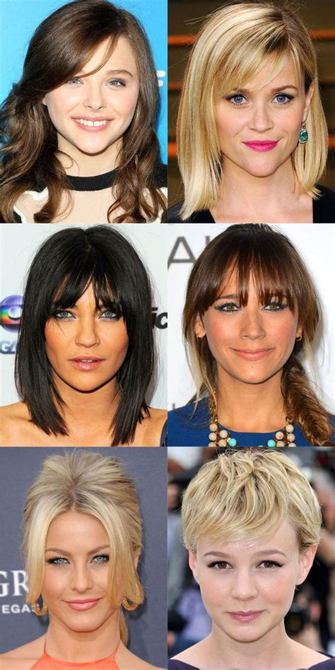 triangle bangs styles the best and worst bangs for inverted triangle faces