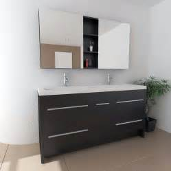 Discount White Kitchen Cabinets Design Element Perfecta 63 Modern Double Sink Bathroom