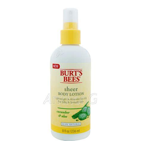 burt s burt s bees cucumber aloe sheer body lotion sale