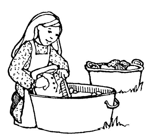 Black And White Folded Laundry Clipart Clipart Suggest Lds Pioneer Coloring Pages