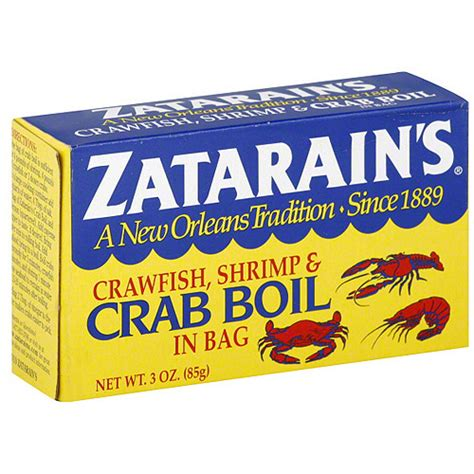 zatarain s shrimp crab boil seasoning 3 oz pack of 12