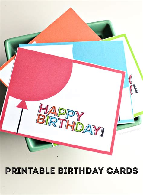 easy printable birthday cards printable birthday cards from thirty handmade days