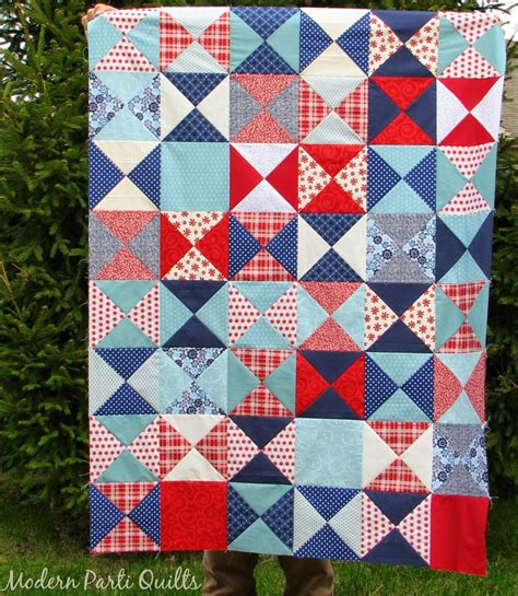 Crib Quilt Modern Parti Quilts Hourglass Crib Quilt