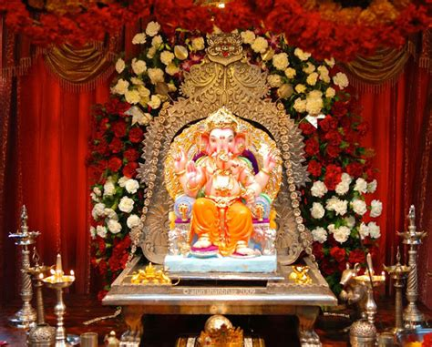 home decoration with flowers ganpati decoration ideas for home the royale