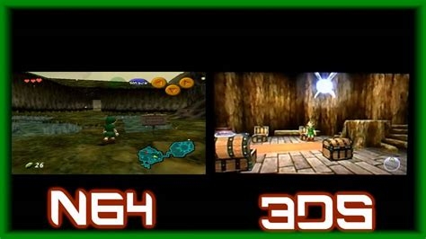 Kaset 3ds The Legend Of Ocarina Of Time 3d ocarina of time 3ds and n64 gameplay comparison