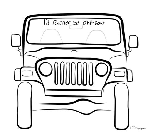 jeep front drawing jeep drawings on behance