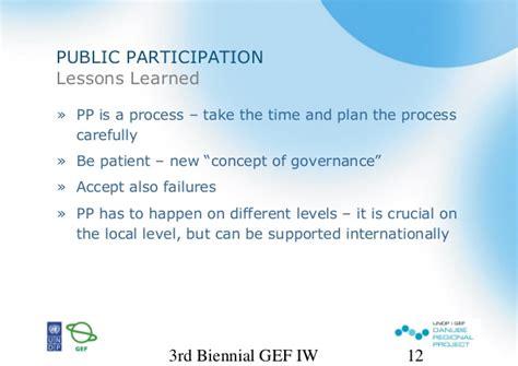 Trans Boundaries Financial Casein International Forum undp gef danube regional project and participation in the tran