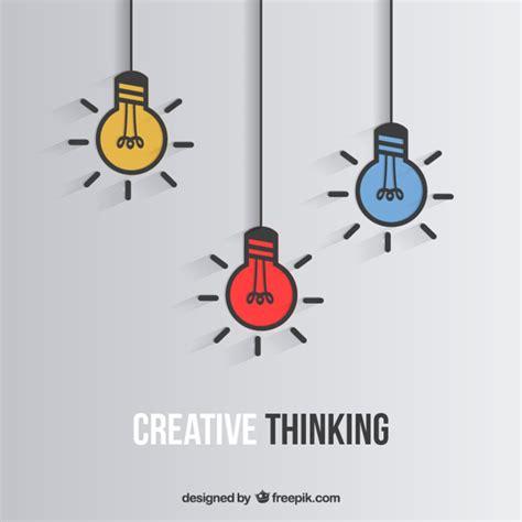 idea design bg creative thinking vector free download