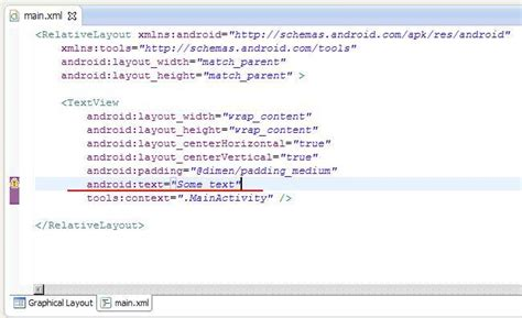 layout modification xml lesson 5 layout file for activity xml representation