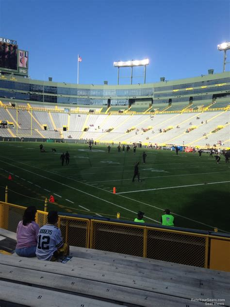 section 132 f lambeau field section 132 rateyourseats com