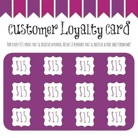 jamberry loyalty card template customer loyalty jamberry